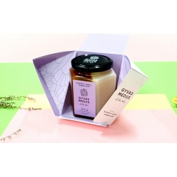 Cream and Buckwheat honey duo in GYVAS MEDUS box 500g.