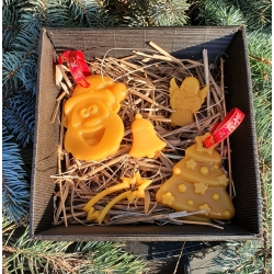Exclusive Beeswax Christmas toys for a Christmas tree Set in the box