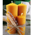SHAPED BEESWAX CANDELS